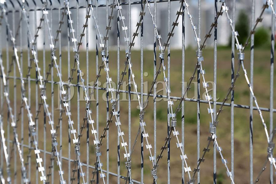Забор из сварной сетки и сетка колючая Пиранья