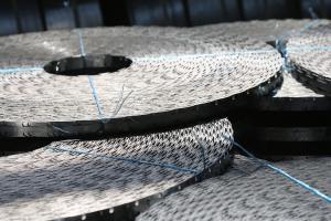 Rolls of Egoza barbed tape in stock