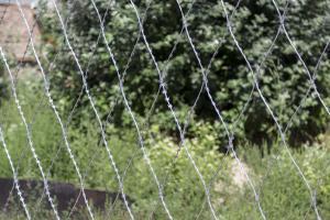 Сетка колючая Пиранья 2,7х10 из проволоки колючей Егоза Кайман