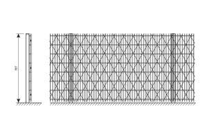 Схема усиления ограждения из сварной сетки колючей сеткой Пиранья