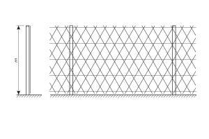 Схема установки ограждения из сетки колючей Пиранья