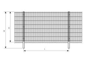 Схема установки ограждения из сварной сетки