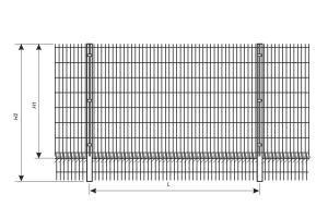 Схема установки ограждения из сварной сетки с защитой от подкопа